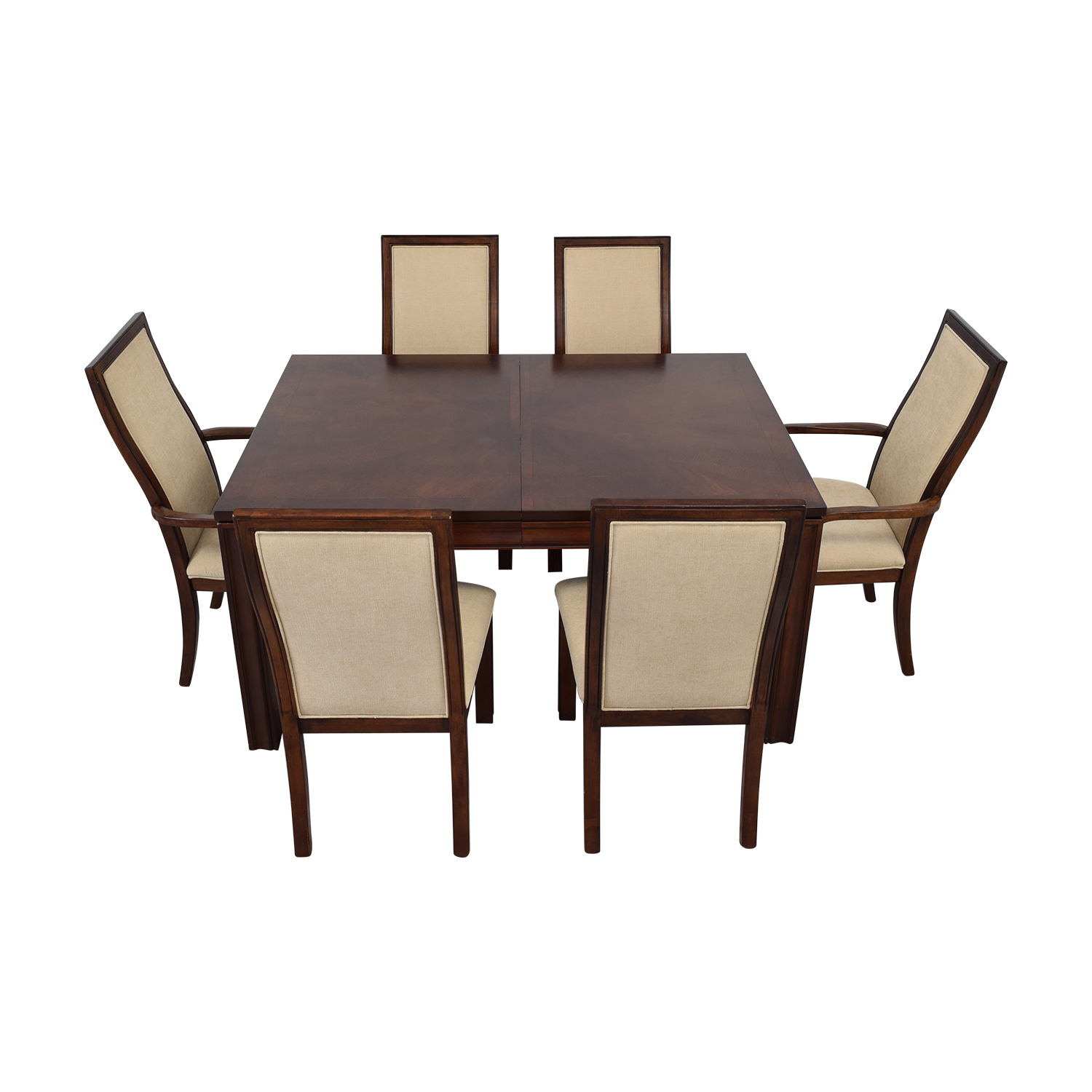 Macy's Macy's Extendable Wood Dining Set for sale