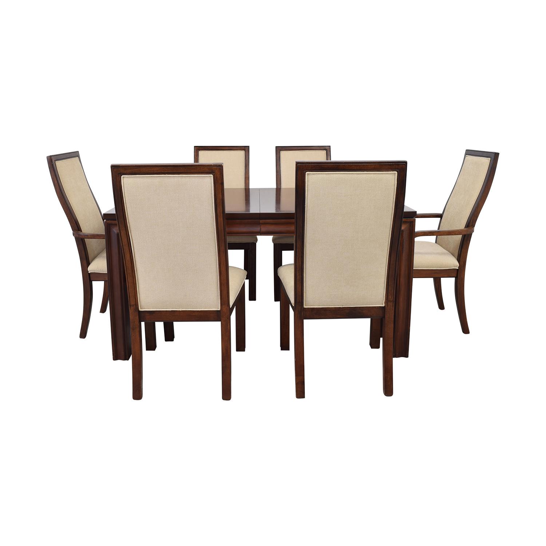 Macy's Macy's Extendable Wood Dining Set