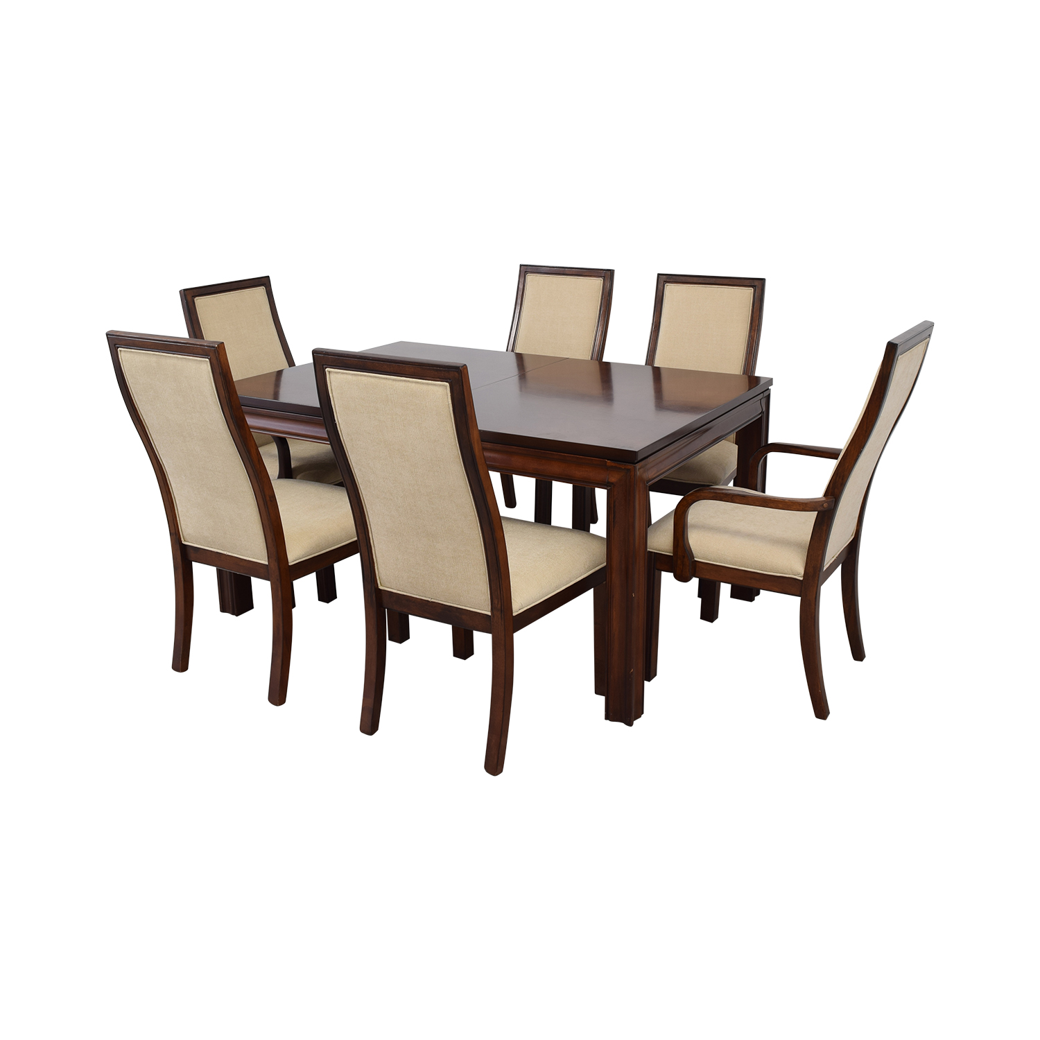 Macy's Macy's Extendable Wood Dining Set cream/brown