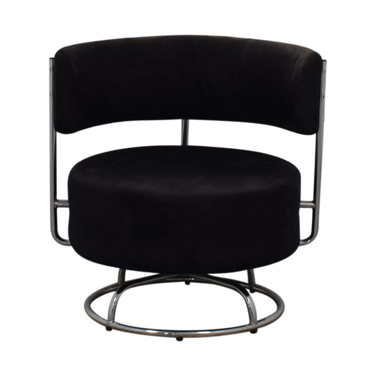 West Elm West Elm Black Rotating Design Chair dimensions