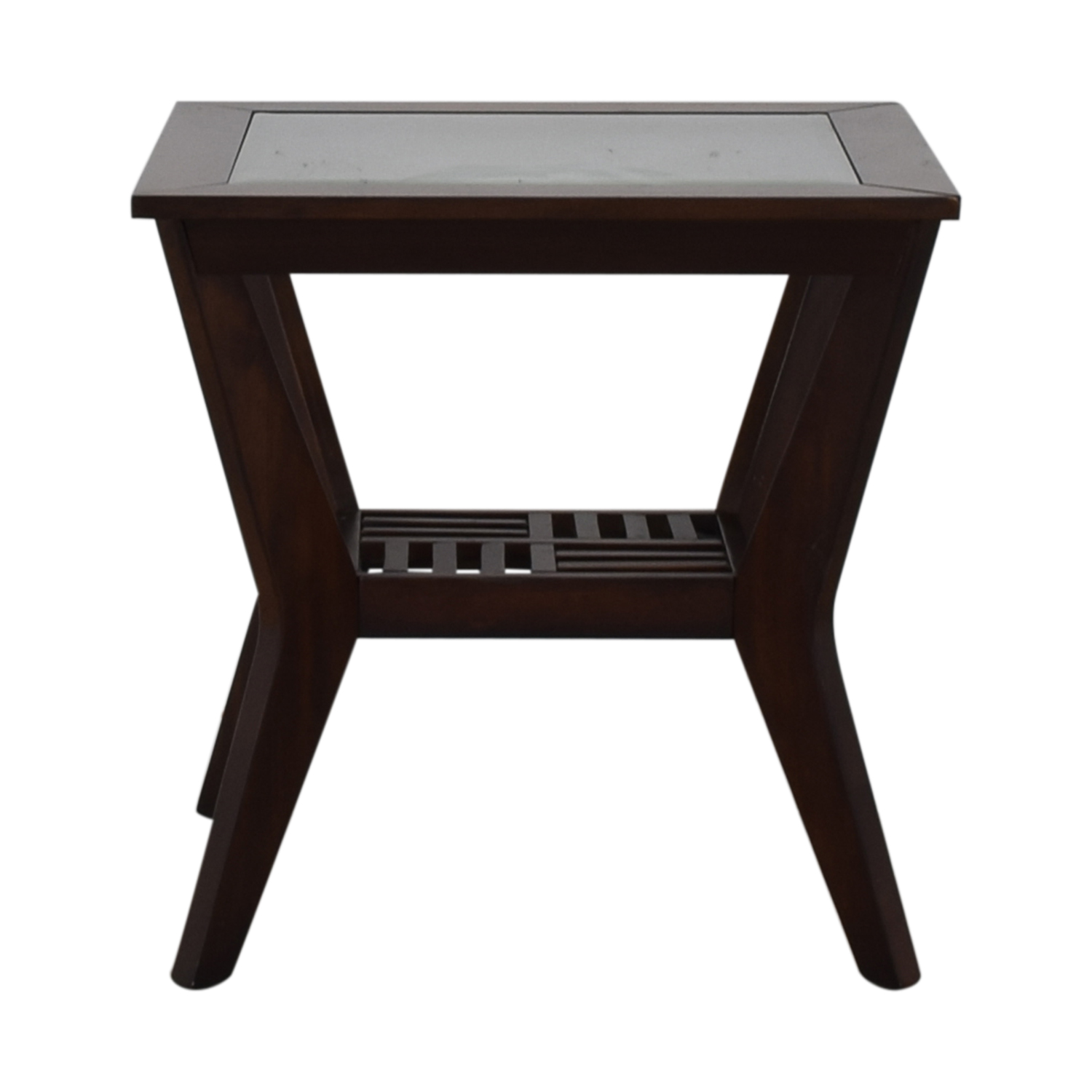 buy Raymour & Flanigan Wood and Glass End Table Raymour & Flanigan