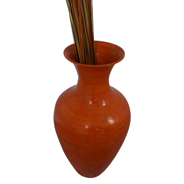shop Home Goods Home Goods Orange Tall Ceramic Vase online
