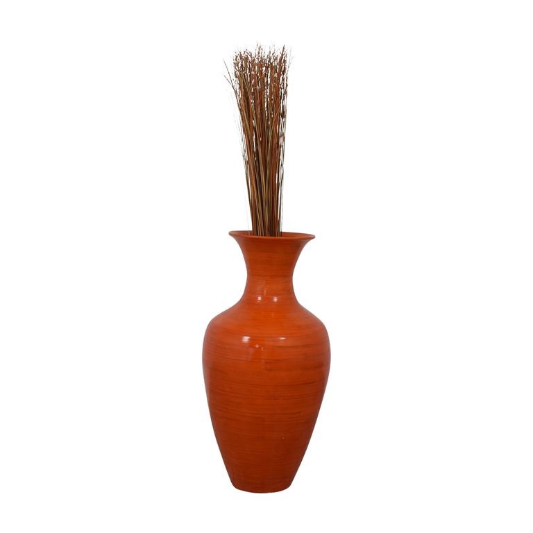 shop Home Goods Orange Tall Ceramic Vase Home Goods