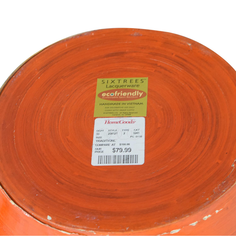 Home Goods Home Goods Orange Tall Ceramic Vase Decorative Accents