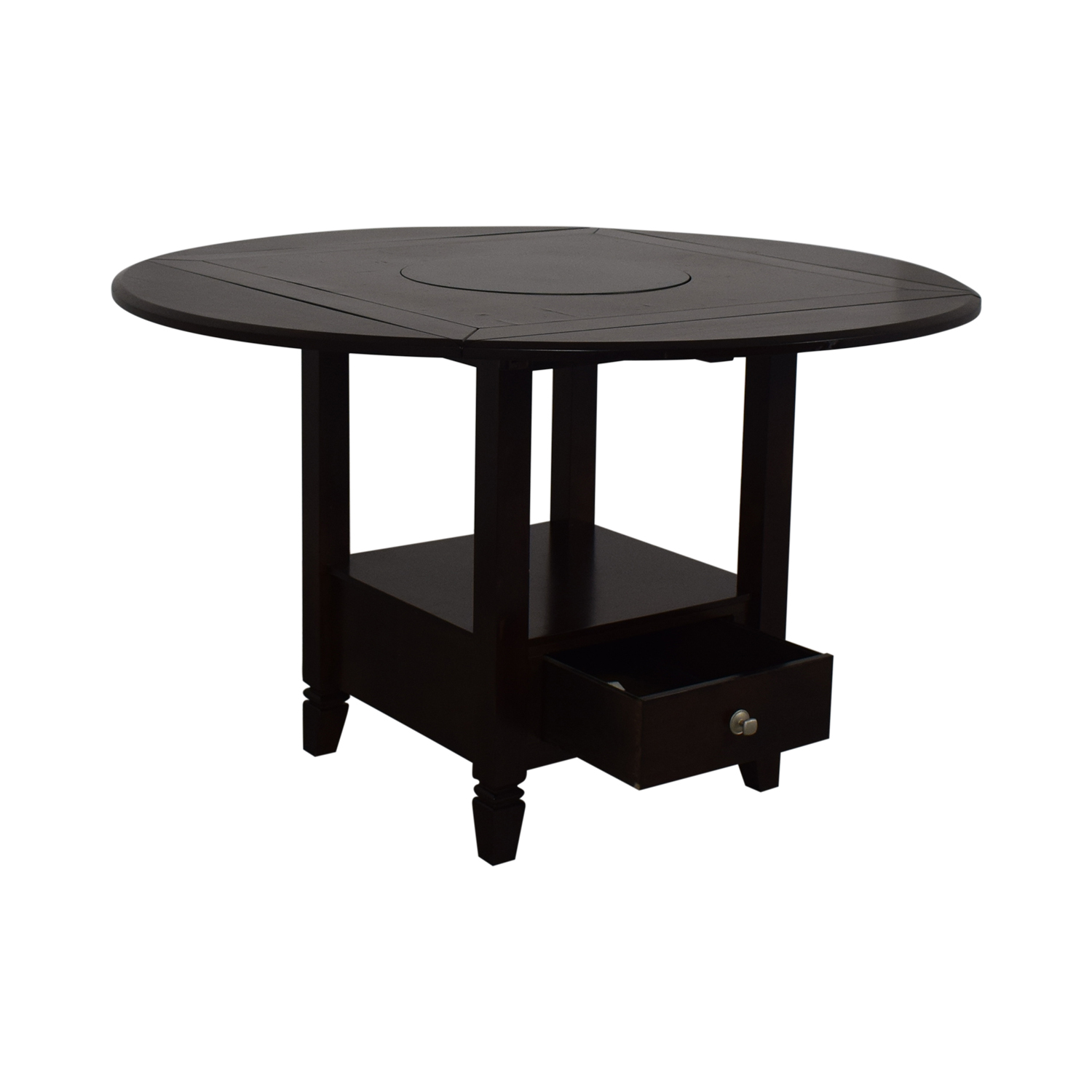 Raymour & Flanigan Bar Height Drop Leaf Dining Table / Tables