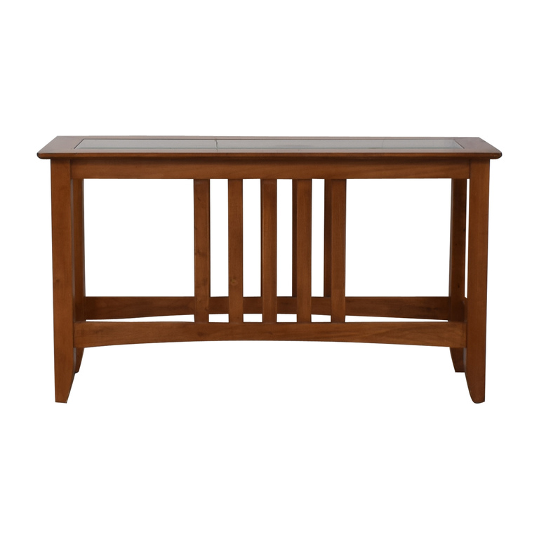 Glass and Wood Console Table nyc