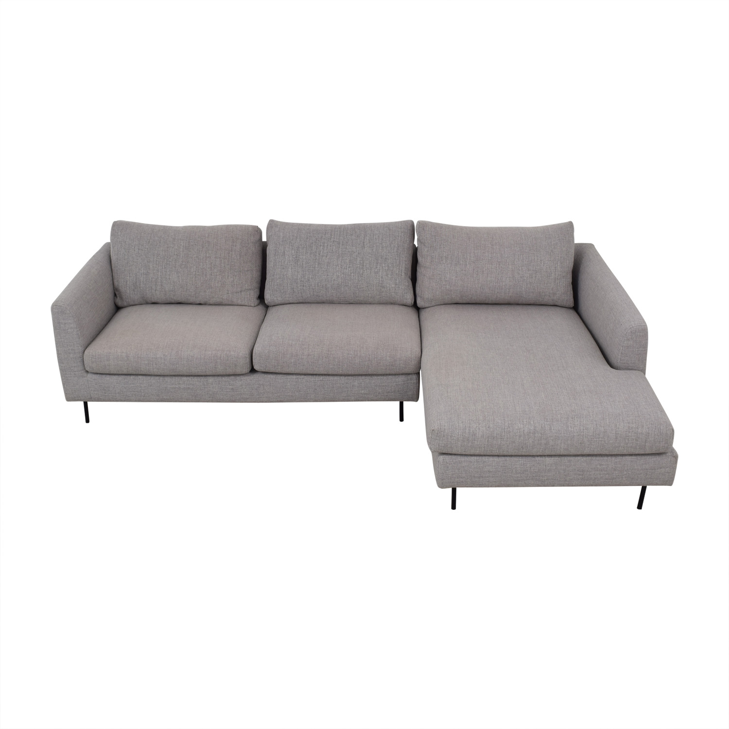 Interior Define Interior Define Owens Grey Right Chaise Sectional nyc