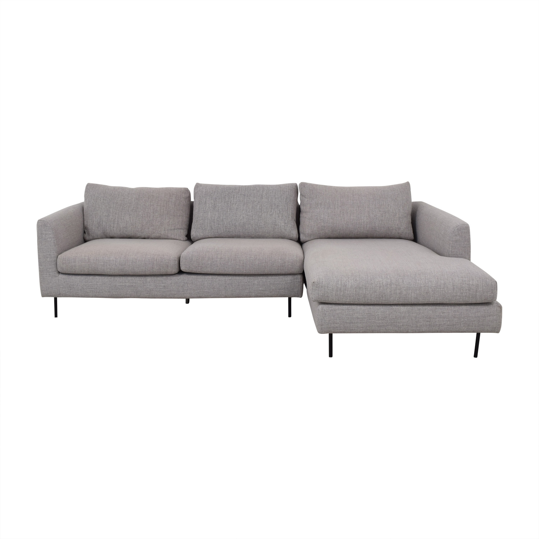 Interior Define Interior Define Owens Grey Right Chaise Sectional nj