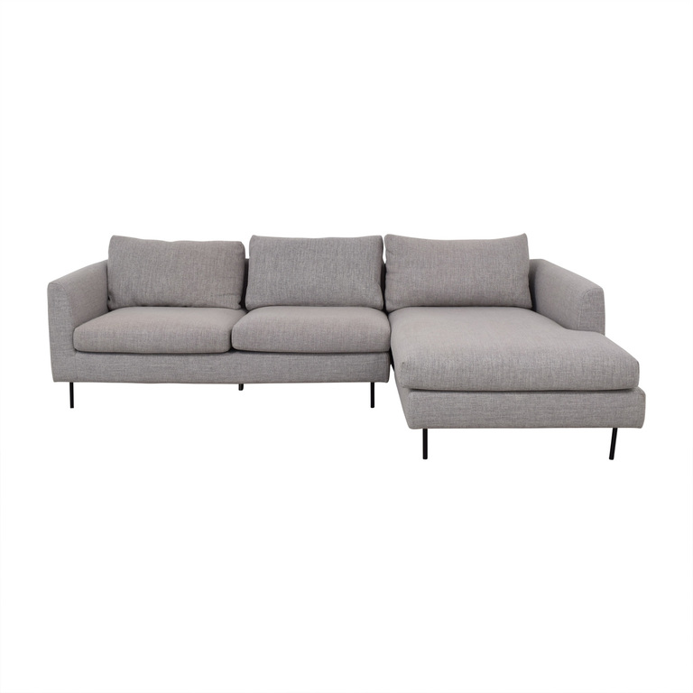 Interior Define Owens Grey Right Chaise Sectional sale