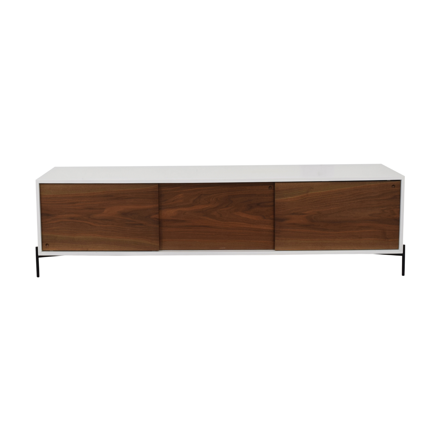 STORnewyork White with Walnut Doors Roosevelt Credenza sale