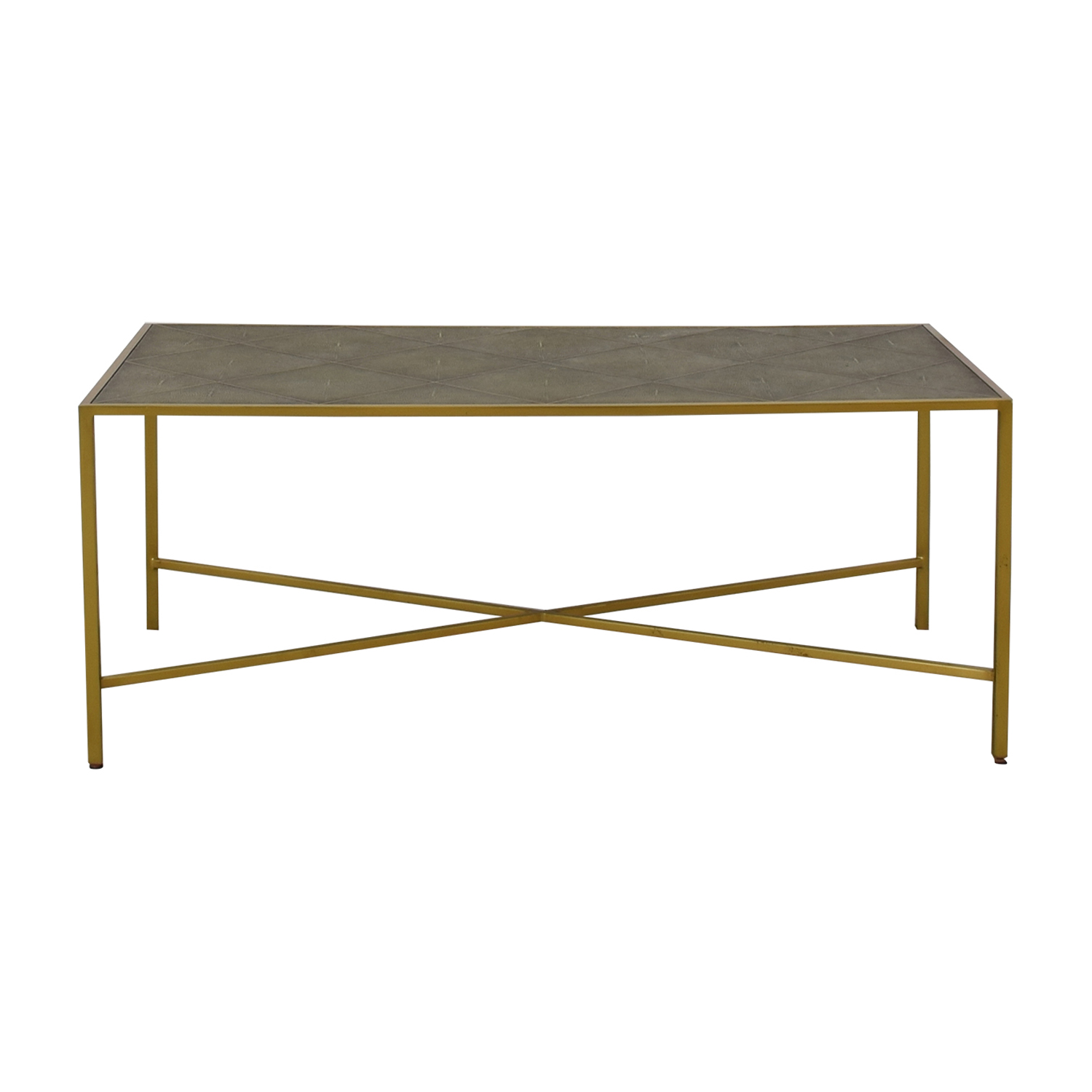 One Kings Lane One Kings Lane Theodore Alexander Shagreen Coffee Table discount