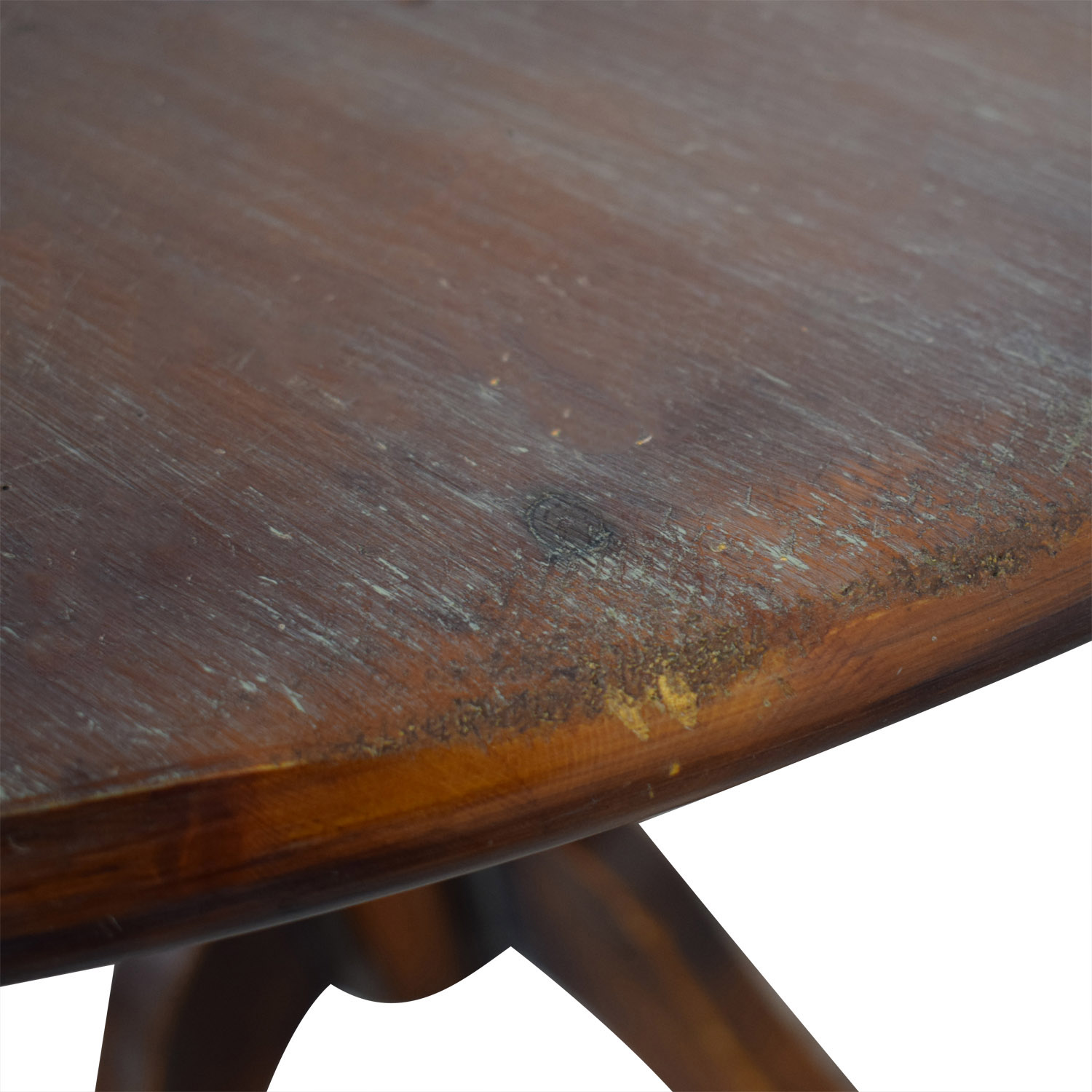 Pottery Barn Pottery Barn Round Wood Pedestal Dining Table second hand