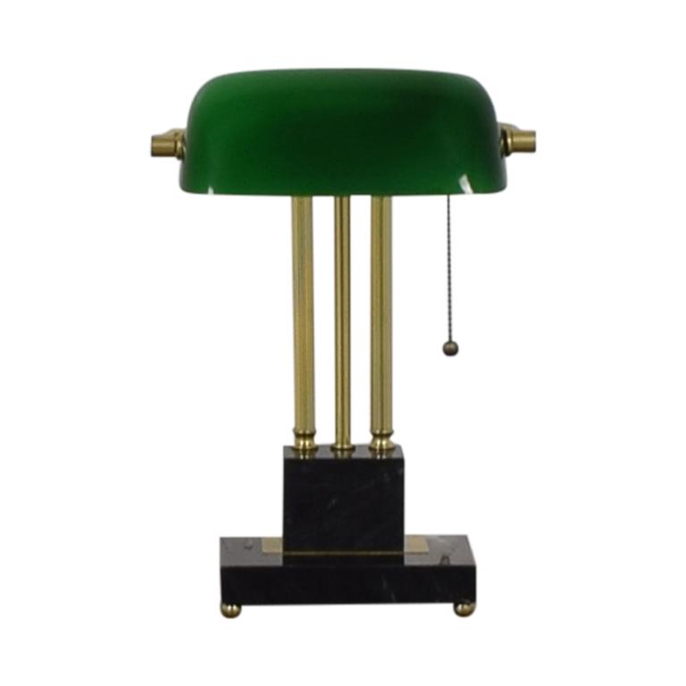 Green Banker's Lamp / Decor