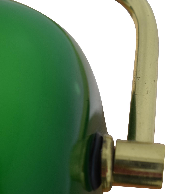 Green Banker's Lamp Green/Gold/Black