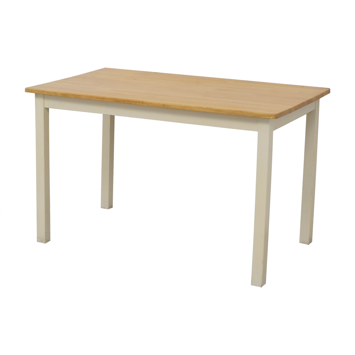 White and Wood Dining Table nyc