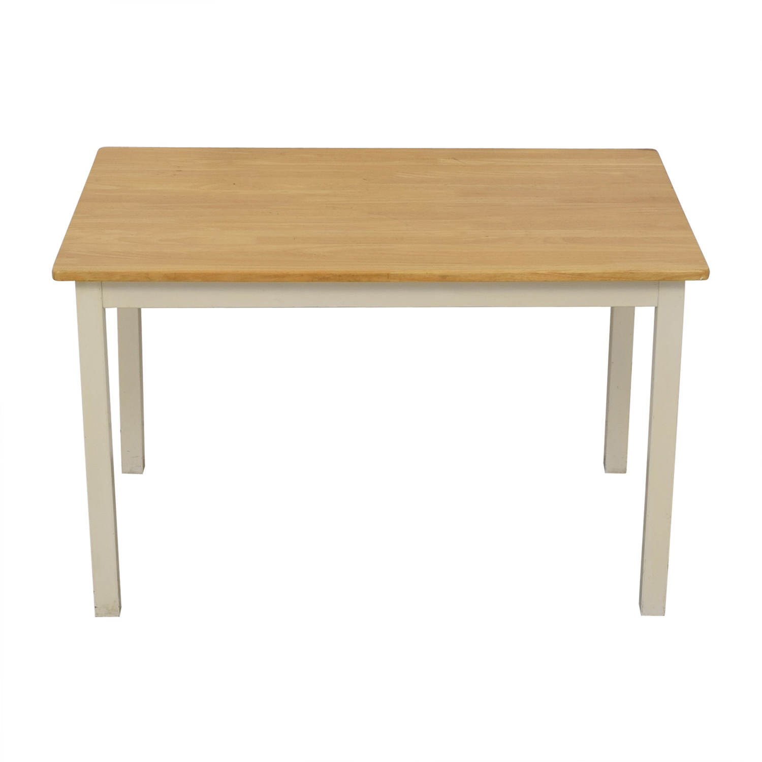 White and Wood Dining Table on sale