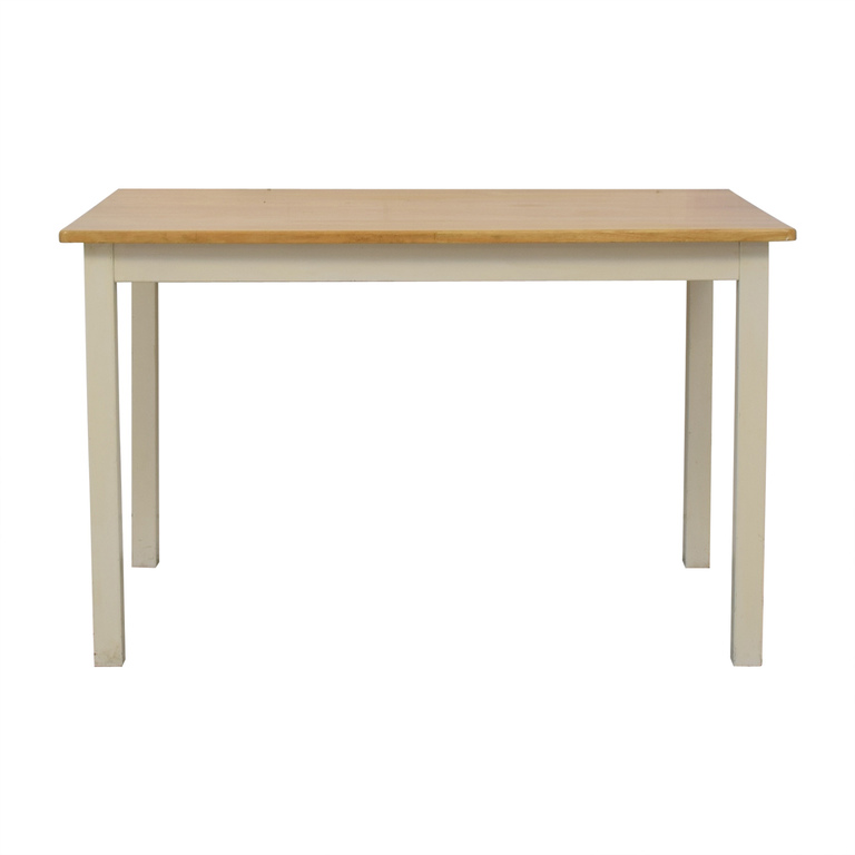 buy White and Wood Dining Table  Tables