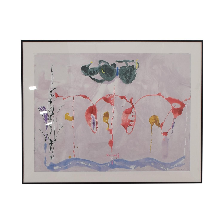 79 Off Helen Frankenthaler Aerie Silkscreen Print Decor