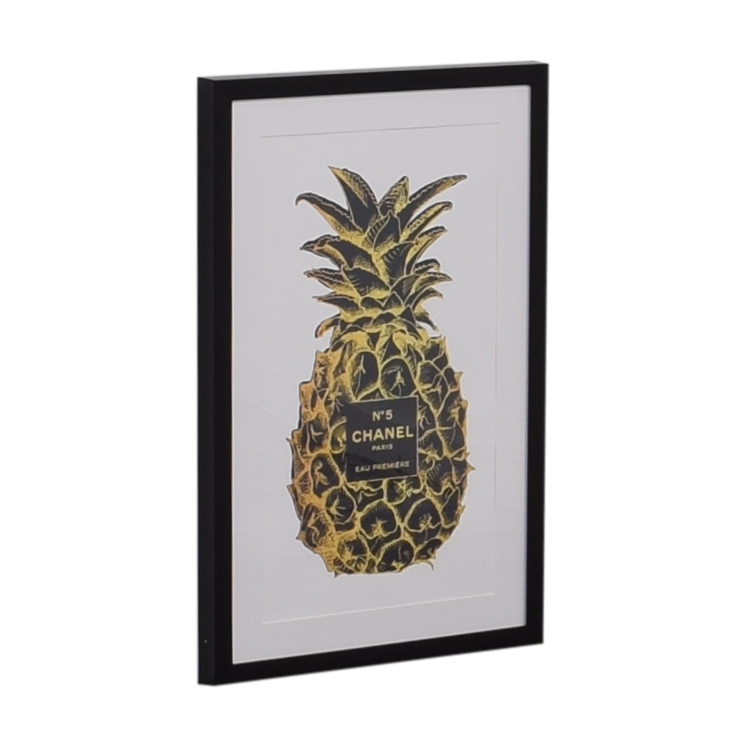 Marmont Hill Marmont Hill Amanda Greenwood Pineapple Black Gold Framed Print Wall Art