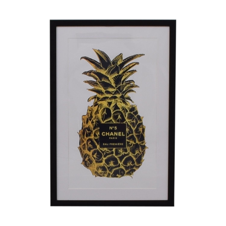 shop Marmont Hill Marmont Hill Amanda Greenwood Pineapple Black Gold Framed Print online