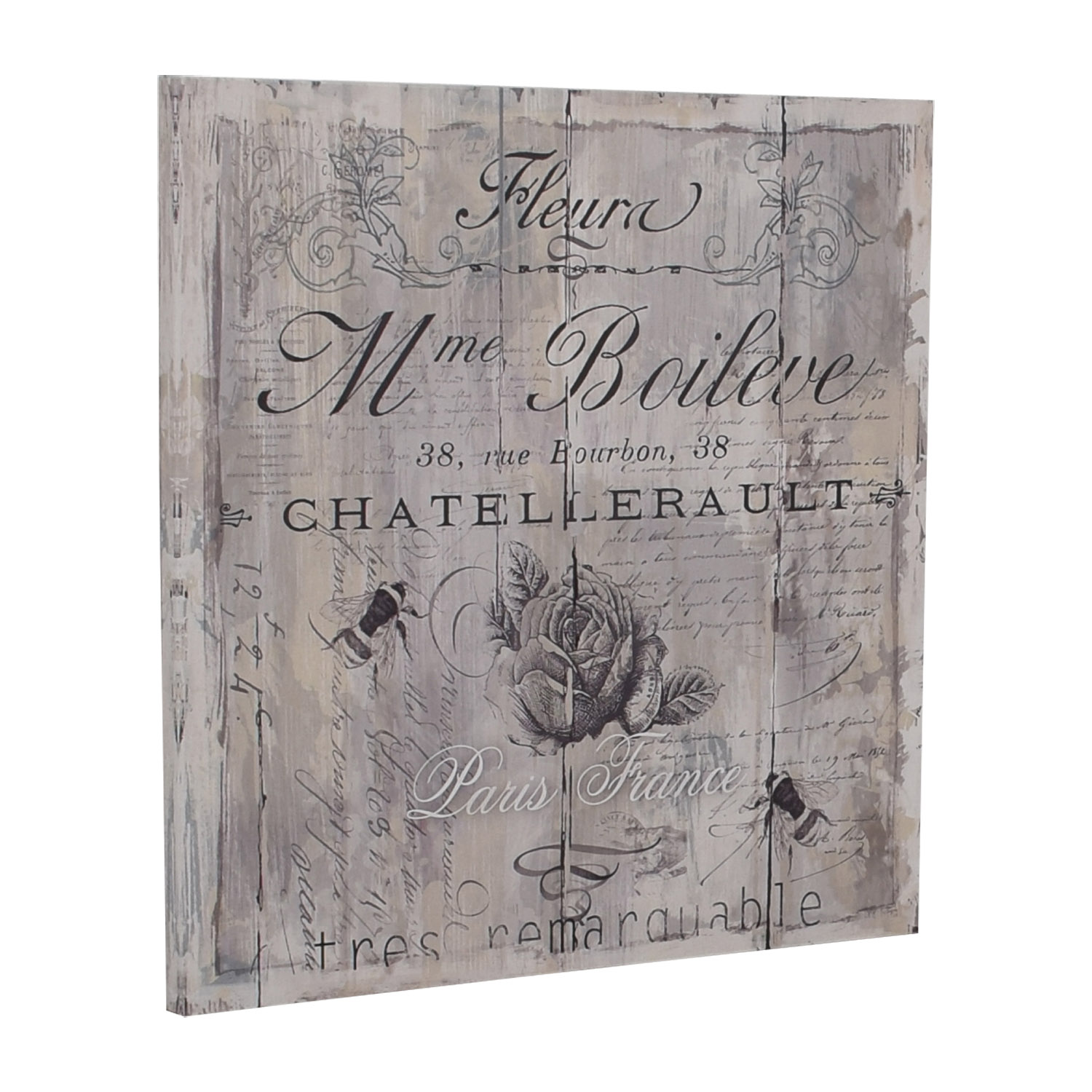 Wexford Home Wexford Home Signs of Paris II Canvas Wall Art nj