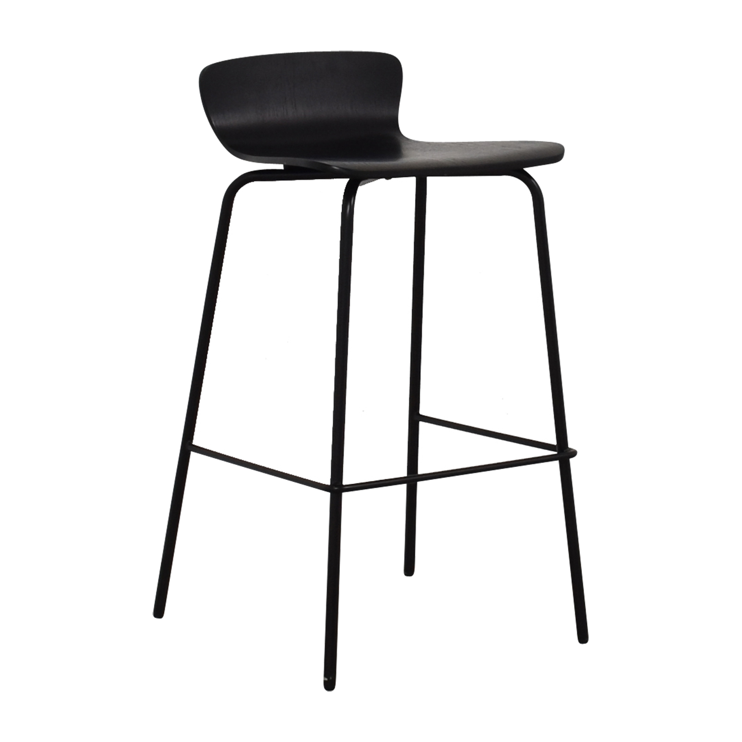 Crate & Barrel Crate & Barrel Felix Black Counter Bar Stool Chairs