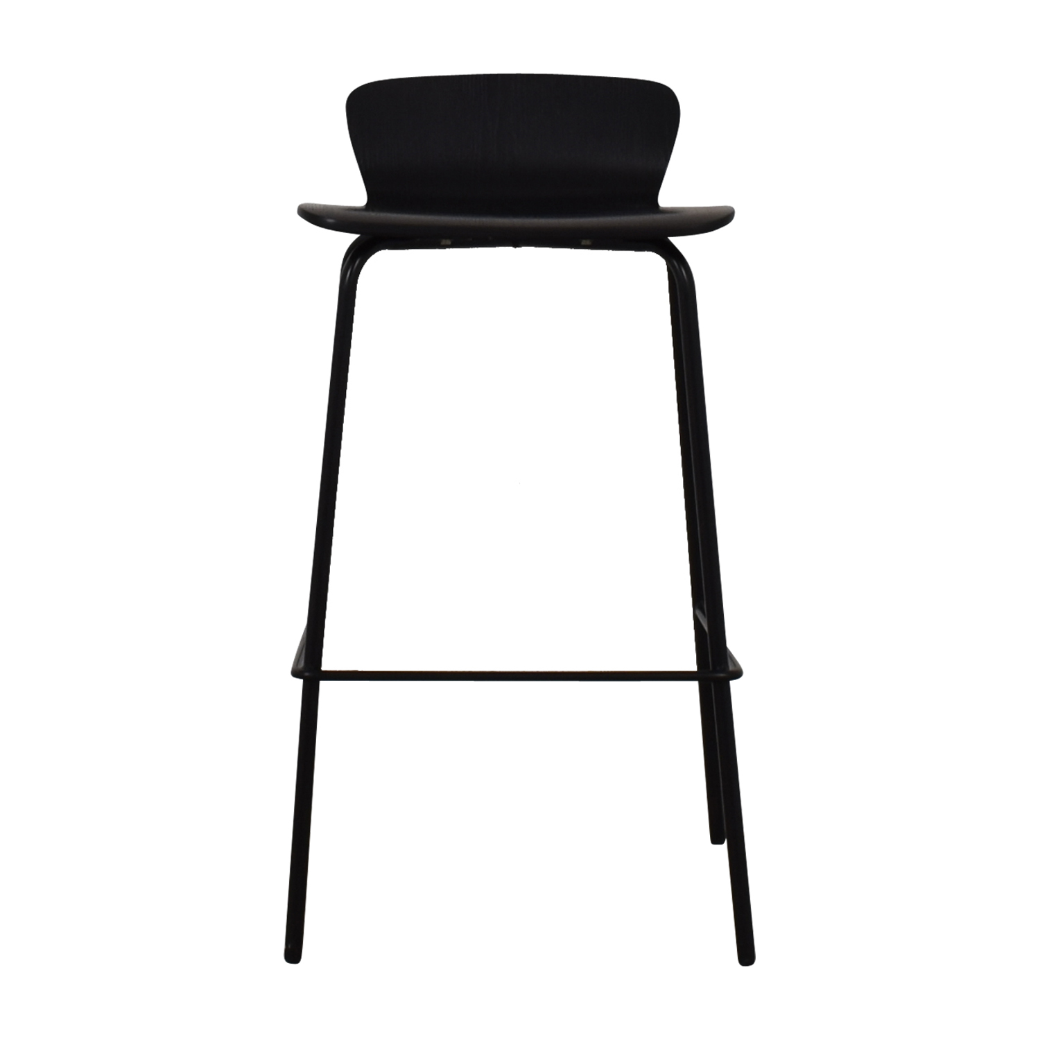 Crate & Barrel Felix Black Counter Bar Stool / Stools