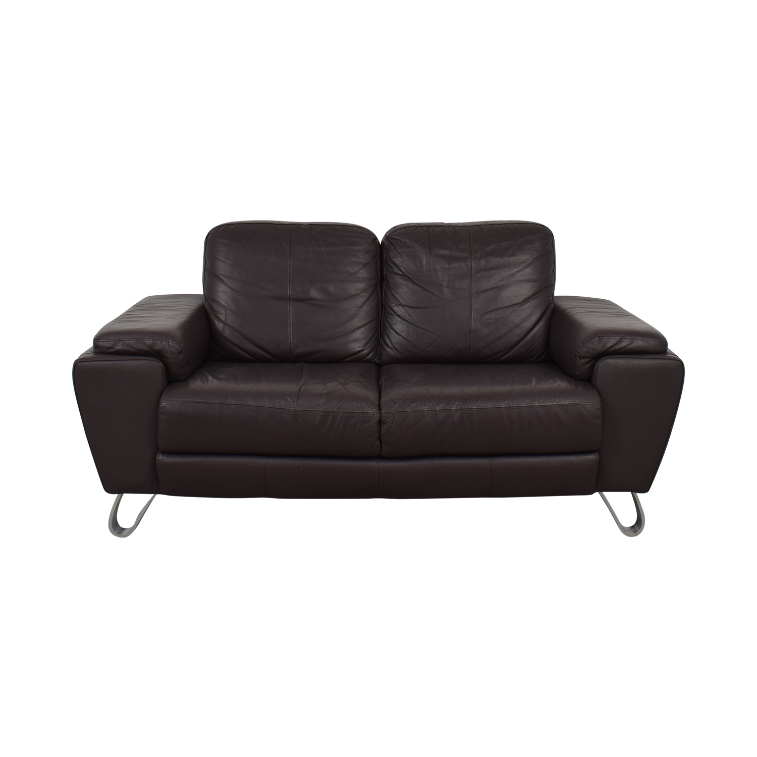 Michaelangelo Design Brown Two-Cushion Loveseat sale