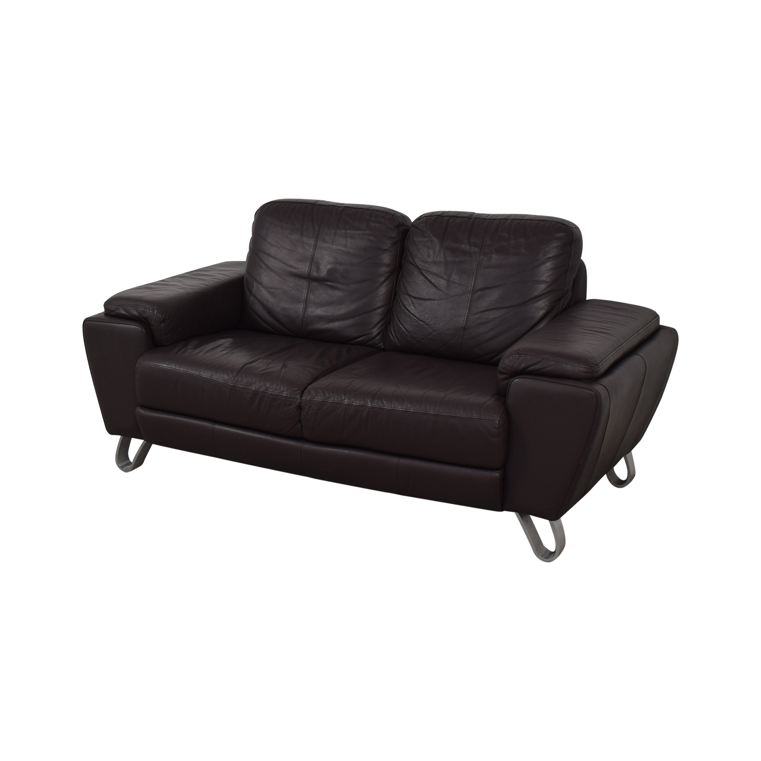 Michaelangelo Design Michaelangelo Design Brown Two-Cushion Loveseat second hand