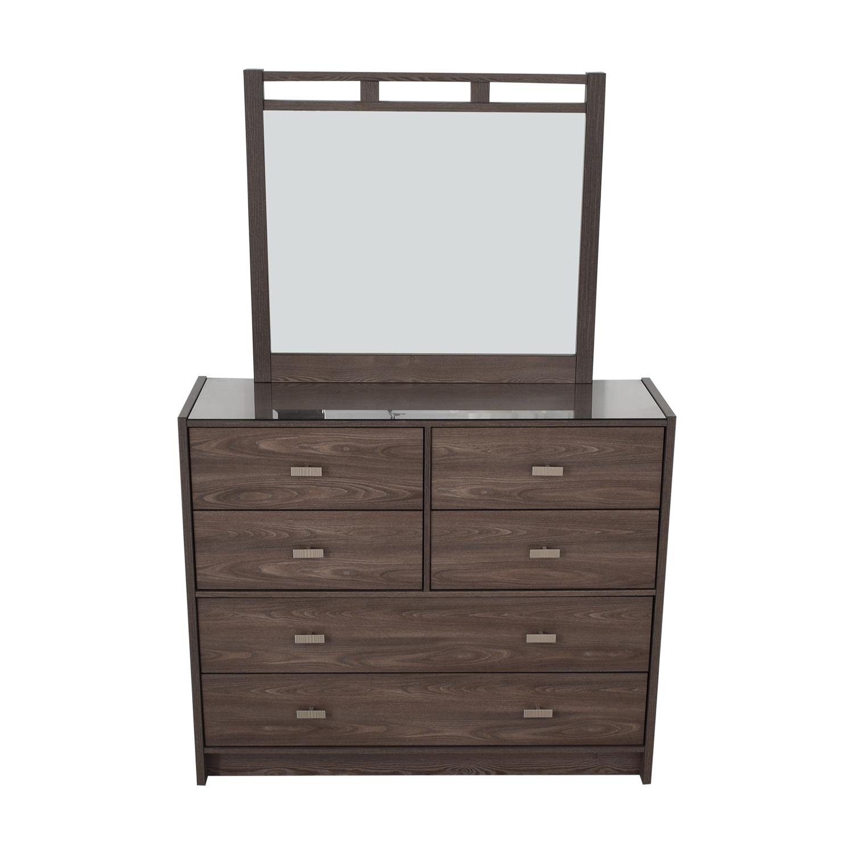 buy Bob's Furniture Soho Six-Drawer Dresser with Mirror Bob's Furniture Storage