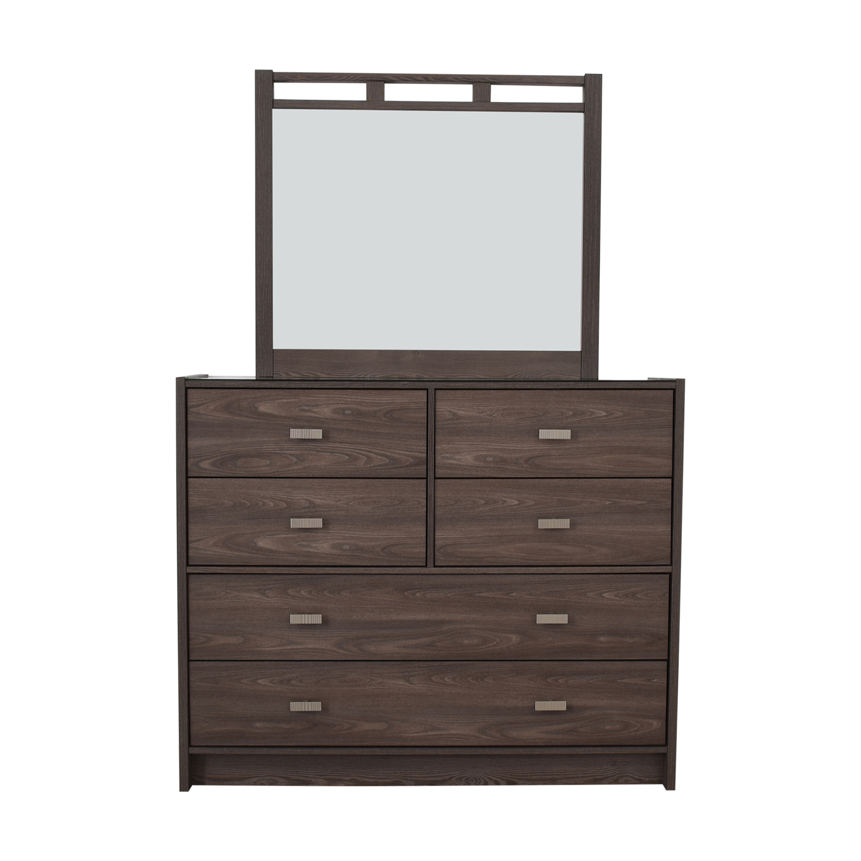Bob's Furniture Bob's Furniture Soho Six-Drawer Dresser with Mirror Dressers