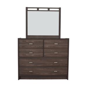Bob's Furniture Bob's Furniture Soho Six-Drawer Dresser with Mirror second hand