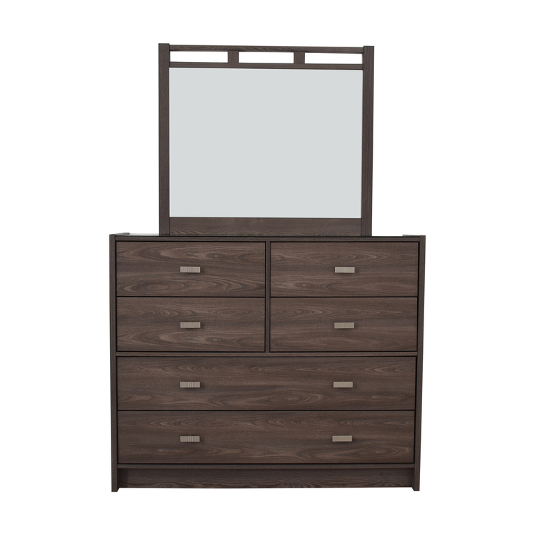 Bob's Furniture Soho Six-Drawer Dresser with Mirror Bob's Furniture