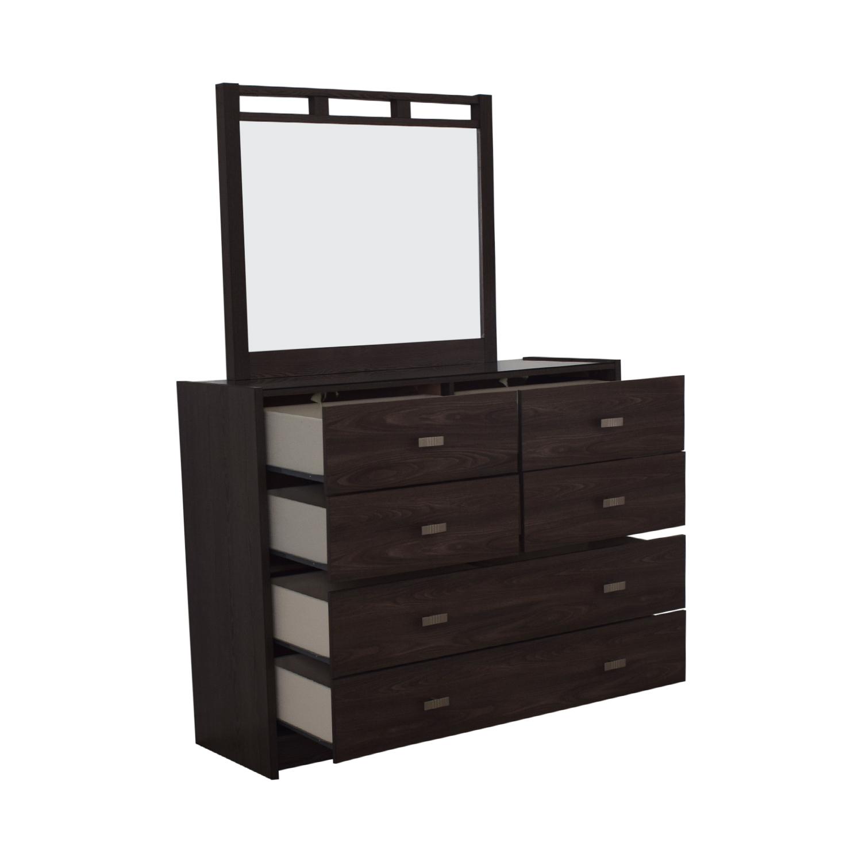Bob's Furniture Bob's Furniture Soho Six-Drawer Dresser with Mirror nyc