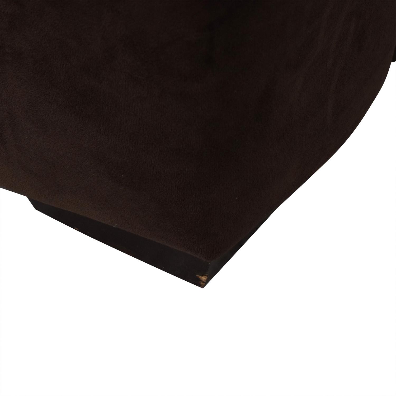 buy Macy's Brown Two-Cushion Sofa Macy's Classic Sofas