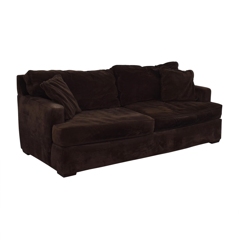Macy's Macy's Brown Two-Cushion Sofa Classic Sofas
