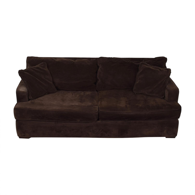 Macy's Macy's Brown Two-Cushion Sofa nyc