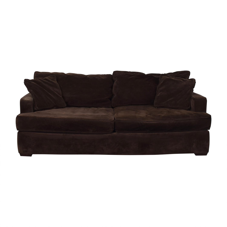 Macy's Macy's Brown Two-Cushion Sofa nj