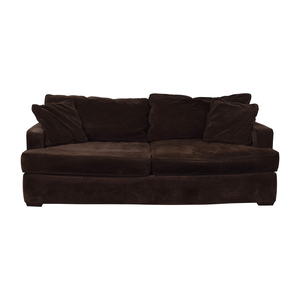 Macy's Macy's Brown Two-Cushion Sofa dimensions