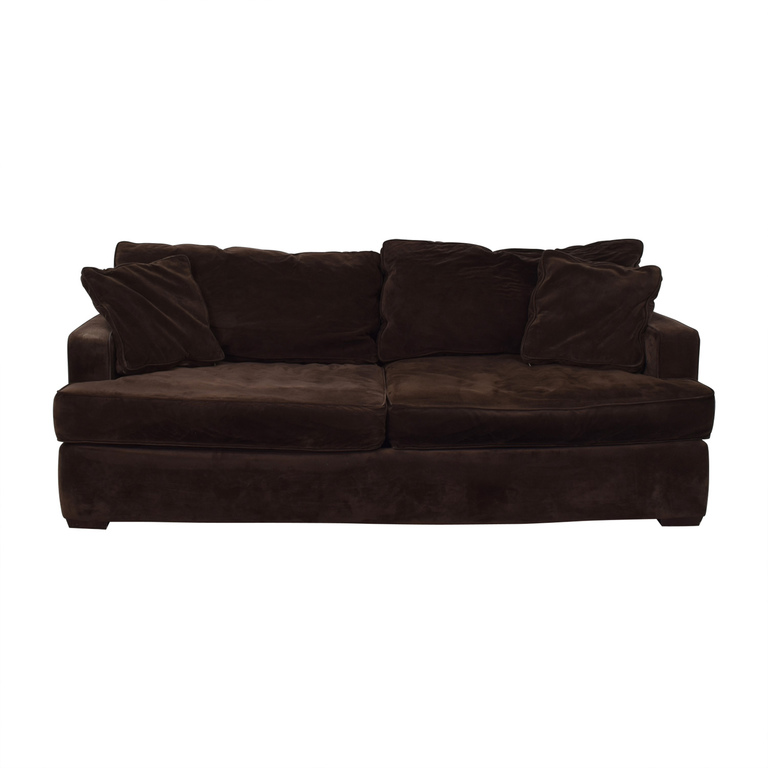Macy's Macy's Brown Two-Cushion Sofa for sale
