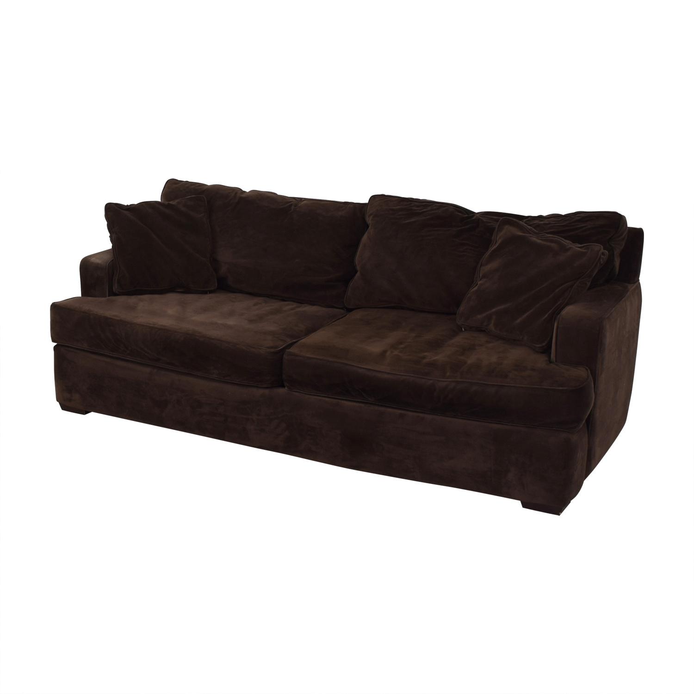 Macy's Macy's Brown Two-Cushion Sofa BROWN