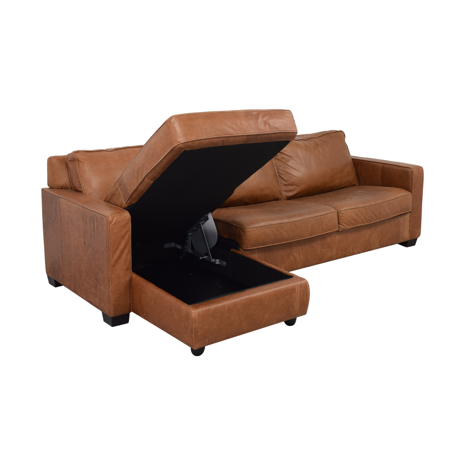 56 Off West Elm West Elm Henry Leather Full Sleeper