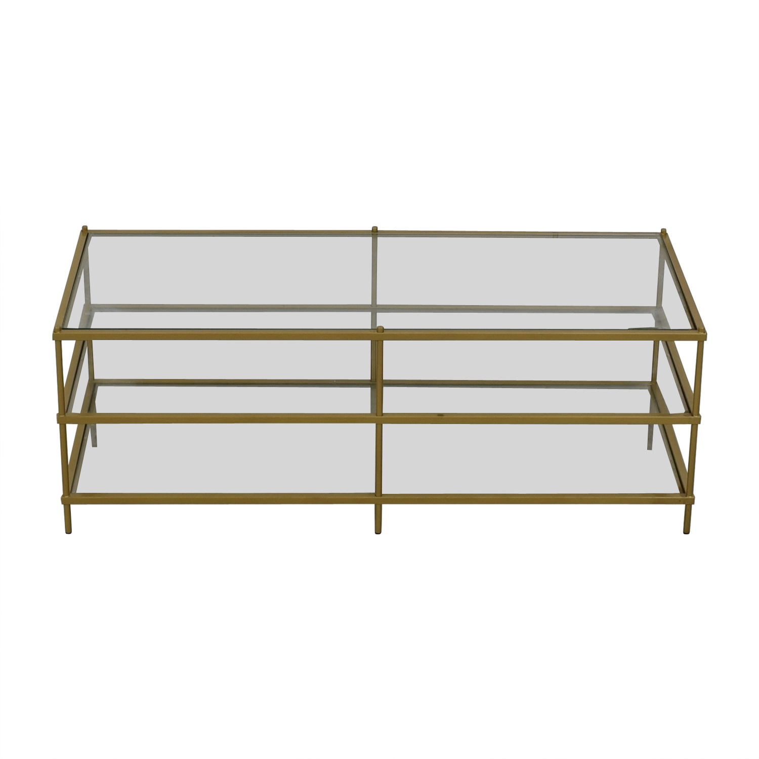 shop Fox Hill Trading Simplicity Coffee Table Gold Fox Hill Trading Coffee Tables