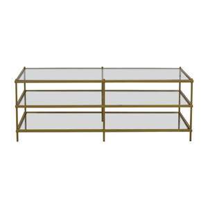 Fox Hill Trading Simplicity Coffee Table Gold sale