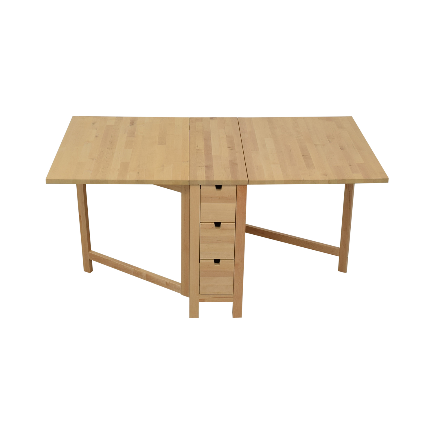 IKEA IKEA Norden Gateleg Folding Table with Storage Drawers second hand
