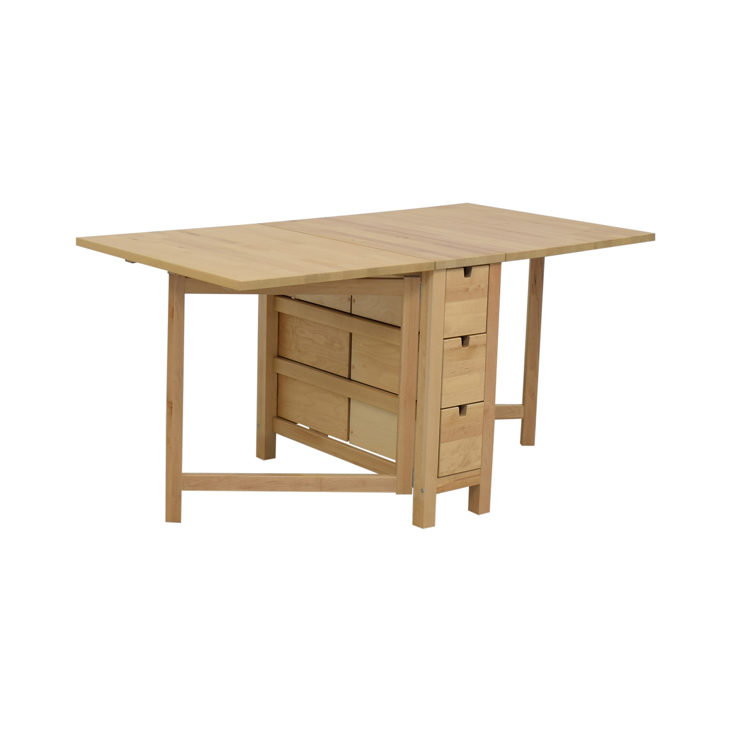 buy IKEA Norden Gateleg Folding Table with Storage Drawers IKEA Tables