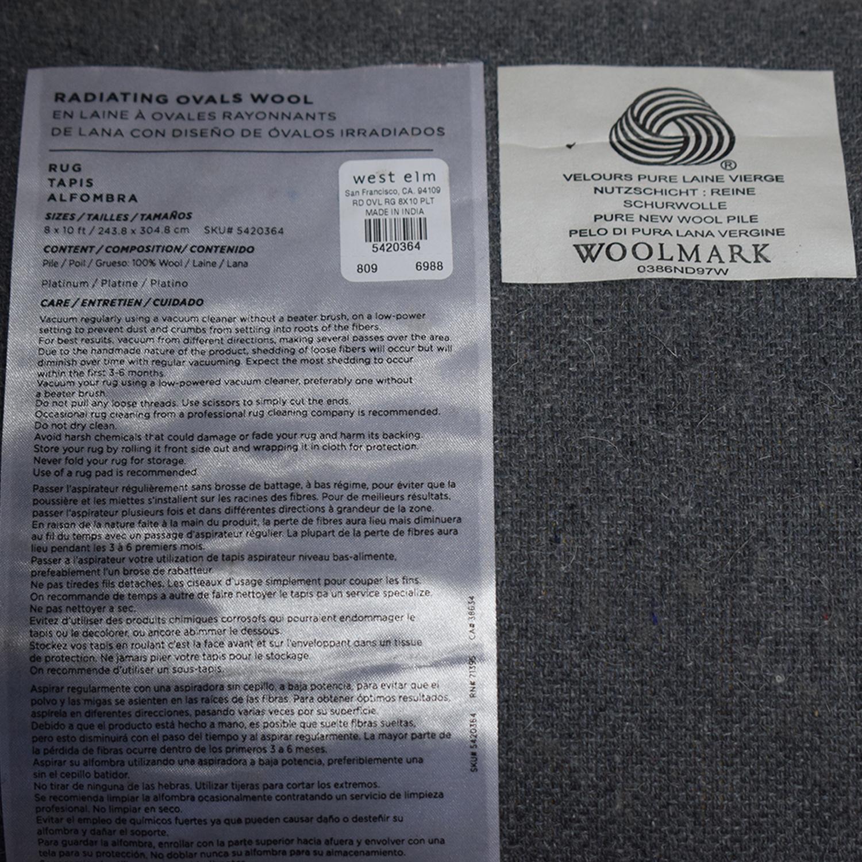 West Elm West Elm Grey Wool Rug for sale