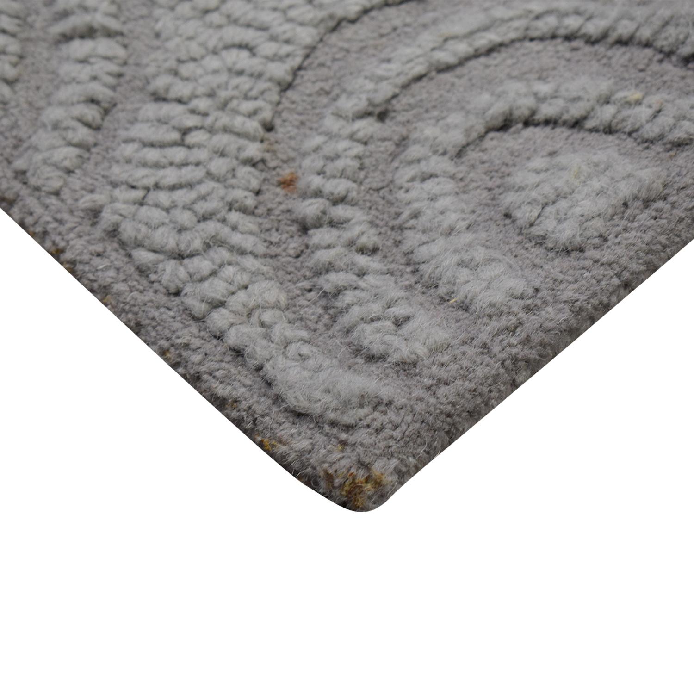 West Elm Grey Wool Rug / Rugs