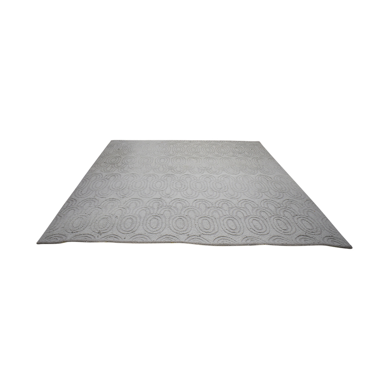 West Elm West Elm Grey Wool Rug second hand