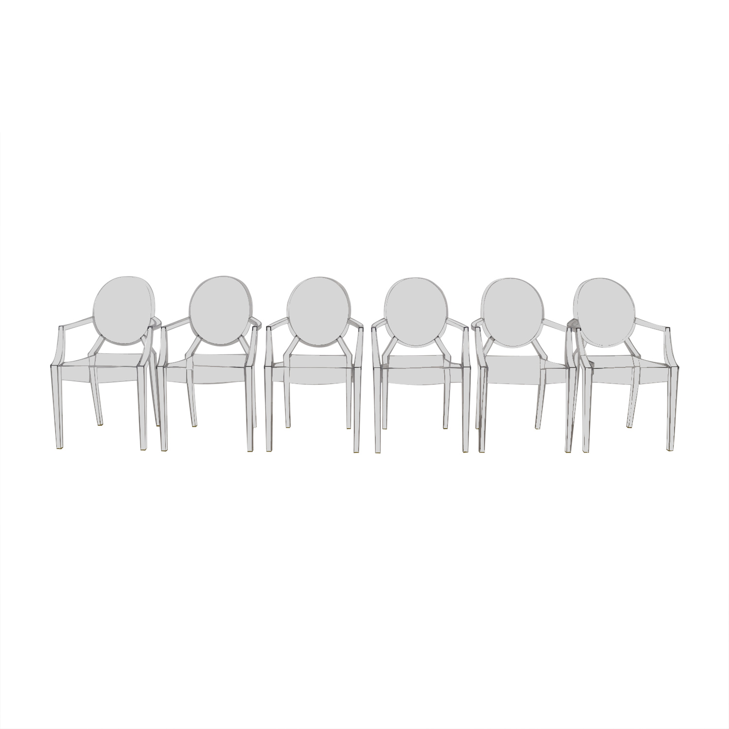buy Kartell Kartell Phillippe Starck Louis Ghost Chairs online